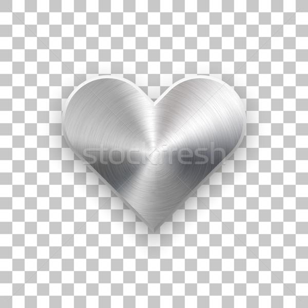 Abstrato coração assinar textura do metal distintivo dia dos namorados Foto stock © molaruso