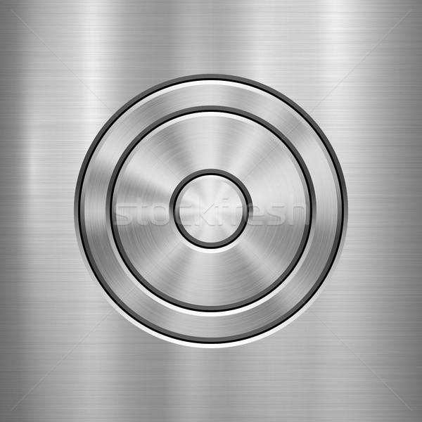ストックフォト: 金属 · 技術 · 抽象的な · サークル · 洗練された · テクスチャ