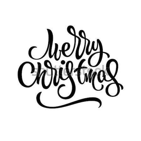 веселый Рождества Знак рождество каллиграфия Сток-фото © molaruso