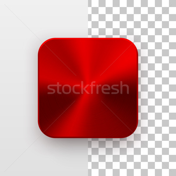 Foto stock: Vermelho · aplicativo · ícone · modelo · textura · do · metal · metal
