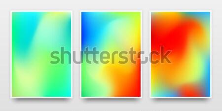 Szín gradiens poszter sablonok bannerek vázlat Stock fotó © molaruso