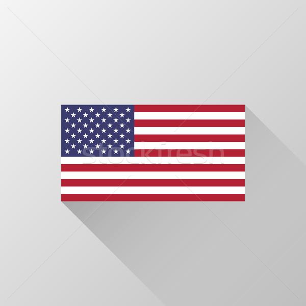 USA officieel vlag Verenigde Staten amerika kleuren Stockfoto © molaruso