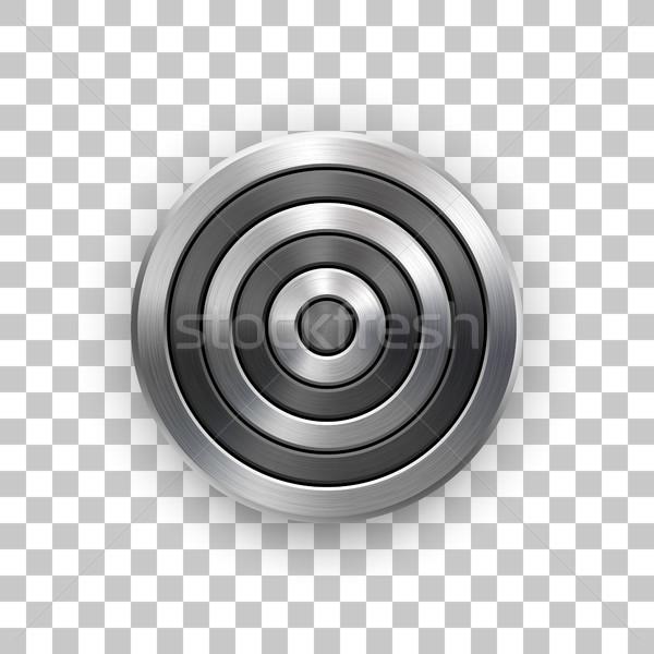 Abstract Technology Circle Metal Badge Stock photo © molaruso