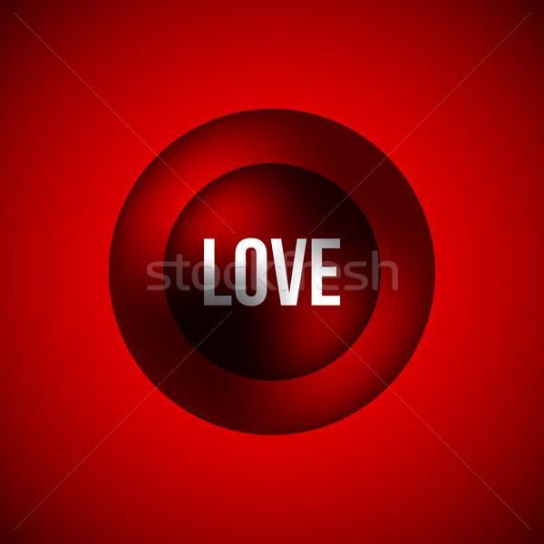 赤 愛 バブル バッジ バレンタインデー 抽象的な ストックフォト © molaruso