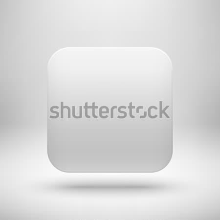 白 アプリ アイコン ボタン テンプレート 抽象的な ストックフォト © molaruso