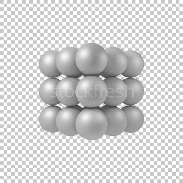 白 抽象的な 3D 真珠 ストックフォト © molaruso