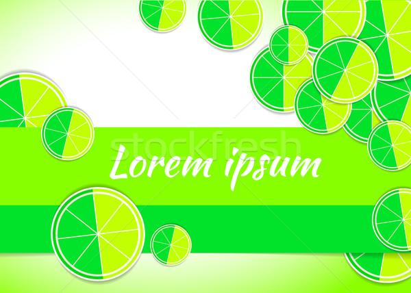 vector illustration lime citrus backgrounds fruits Stock photo © mOleks