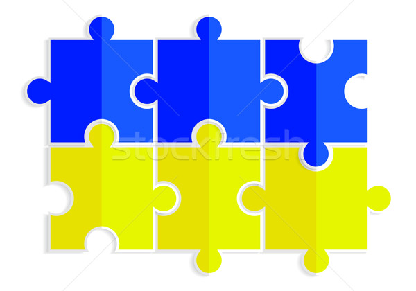 Geel Blauw vorm vlag Oekraïne business Stockfoto © mOleks