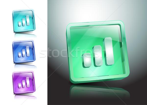 Drótnélküli hálózat szimbólum jel internet vektor Stock fotó © mOleks