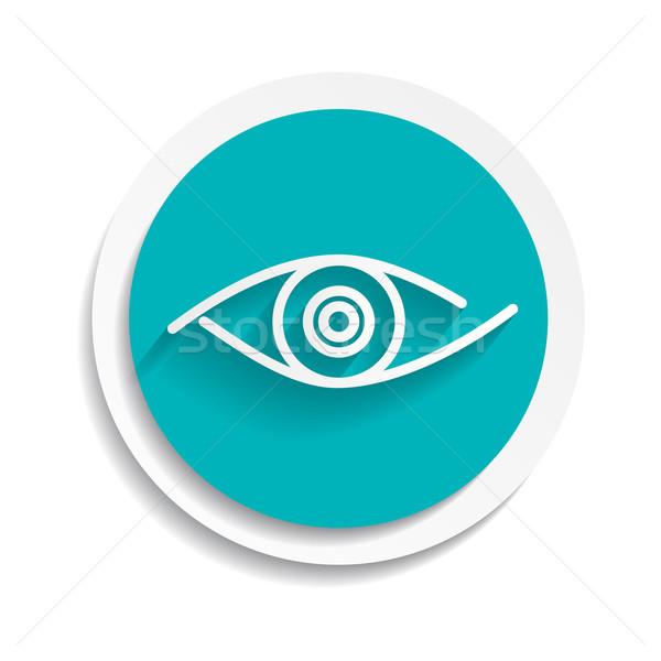 Oog icon kijken menselijke visie symbool Stockfoto © mOleks