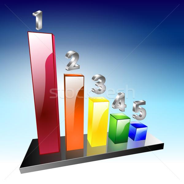 Grafiek gemakkelijk geld financieren corporate markt Stockfoto © mOleks