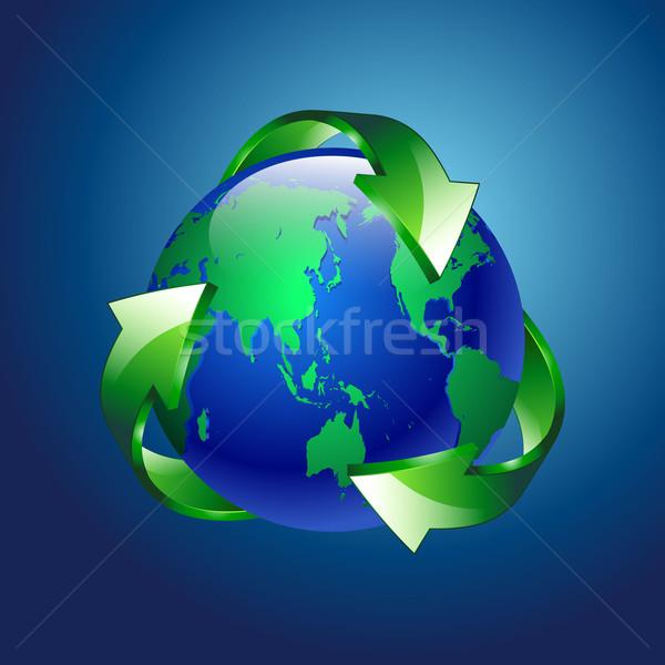 Schone groene Blauw planeet recycleren business Stockfoto © mOleks