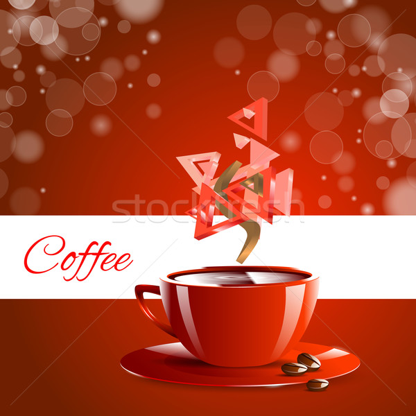 Espresso coffe red coffee Stock photo © mOleks