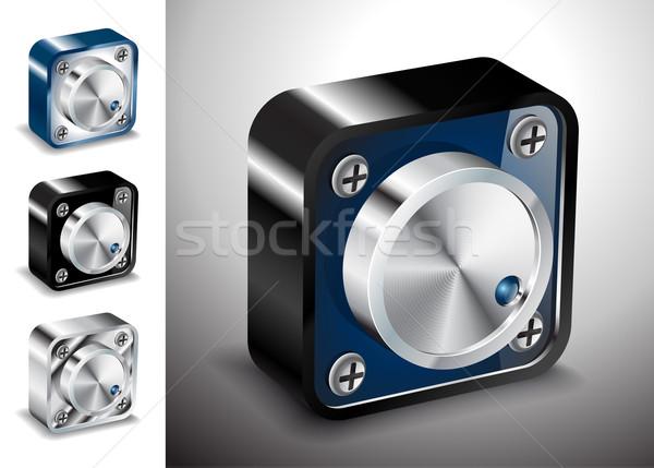 Pulsante icone vettore 3D voce suono Foto d'archivio © mOleks