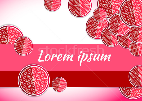 vector illustration pomegranate food backgrounds template Stock photo © mOleks