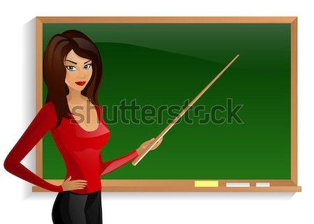 Mooie goede leraar boord jonge business Stockfoto © mOleks
