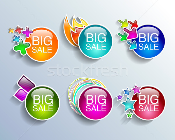 Verkoop banners ingesteld winkelen vector Stockfoto © mOleks