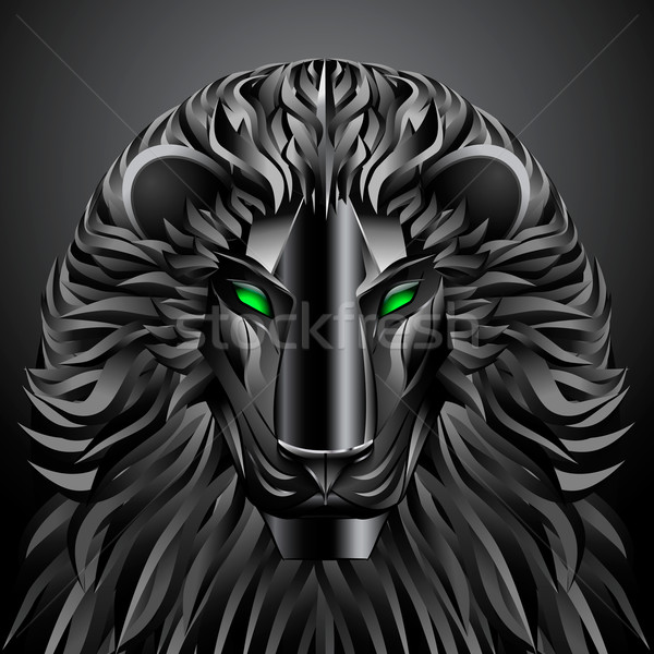 animals lion black technology cyborg  metal robot Stock photo © mOleks