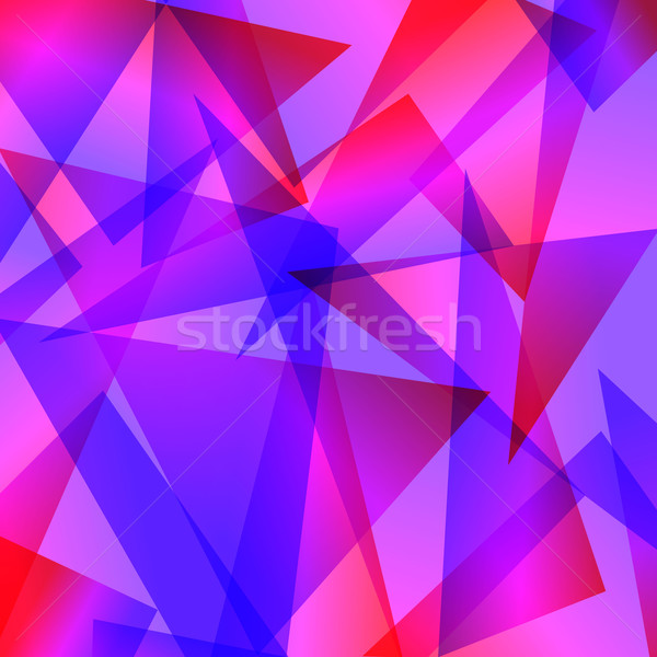 Mavi kırmızı fraktal soyut farklı renkler Stok fotoğraf © mOleks