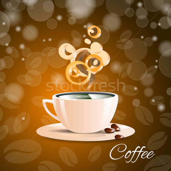 Beker koffie bruin aroma espresso cafe Stockfoto © mOleks