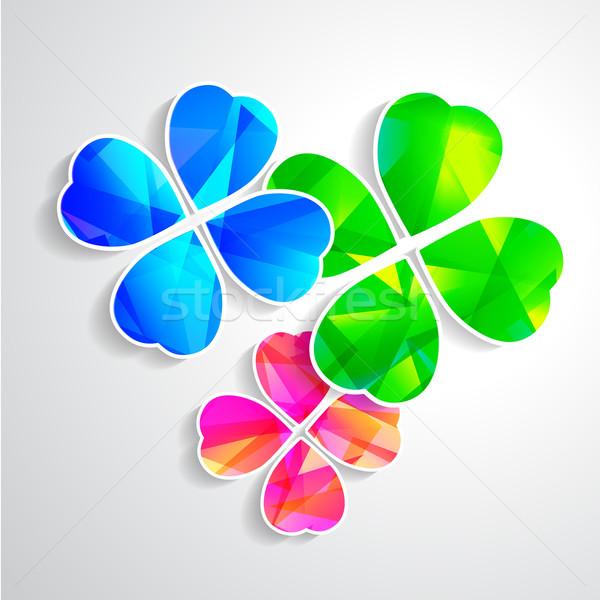 Yonca mutluluk yeşil üç Stok fotoğraf © mOleks
