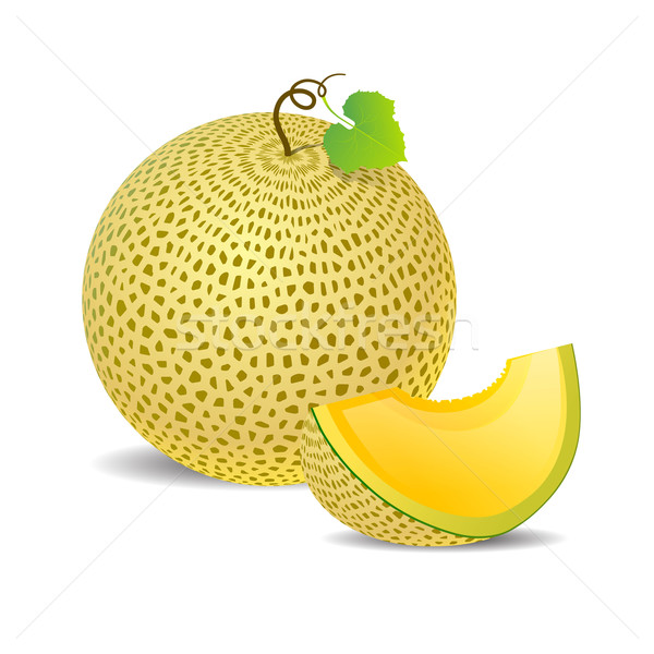 Ripe yellow melon and a piece just Stock photo © mOleks