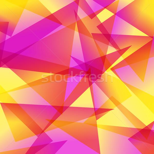 Stock fotó: Citromsárga · piros · fraktál · absztrakt · különböző · színek