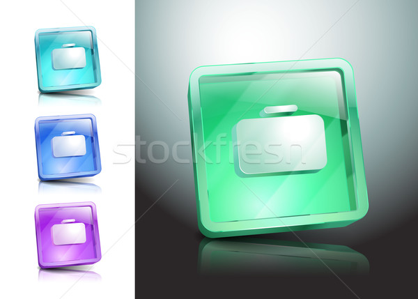 Glas aktetas zak groene Stockfoto © mOleks