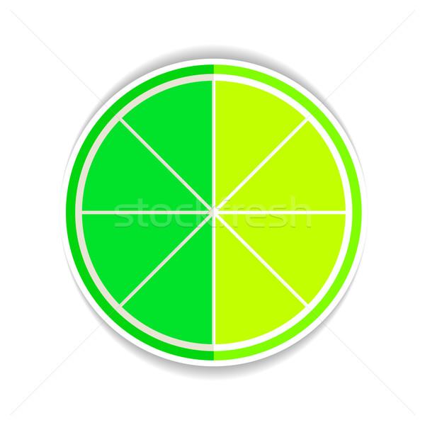 Illustratie kalk vruchten Geel rijp icon Stockfoto © mOleks