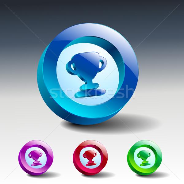 Gunning symbool kleur icon sport achtergrond Stockfoto © mOleks