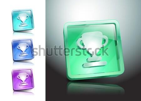 Photo stock: Verre · lumière · idées · lampe · vecteur