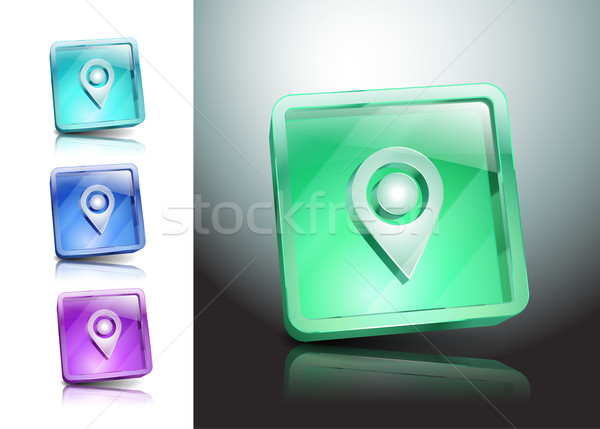 Set green isolated pointers markers different Stock photo © mOleks