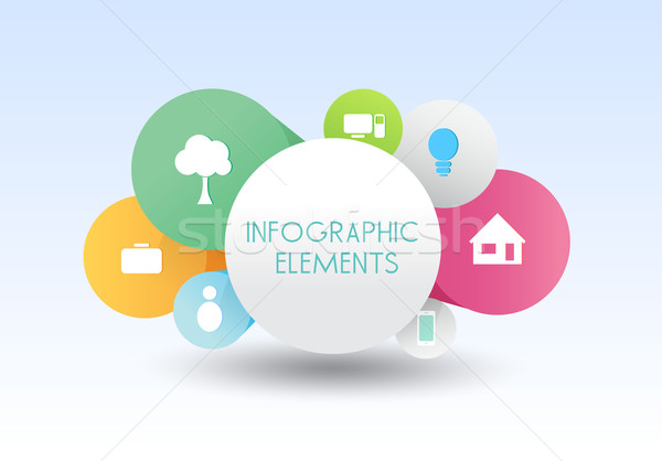 following infographics banner vector business concepts Stock photo © mOleks