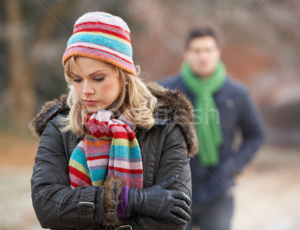Couple On Winter Walk Through Frosty Landscape Stock photo © monkey_business