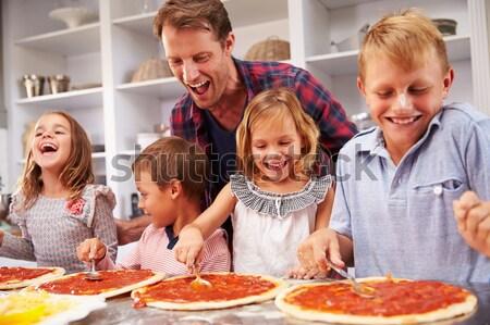 Rodziny christmas obiedzie dziewczyna wina Zdjęcia stock © monkey_business