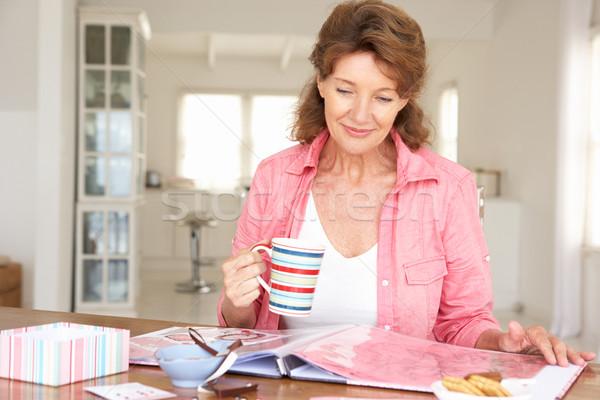 Senior woman scrapbooking Stock photo © monkey_business