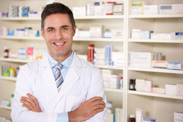 Portrait American pharmacist at work Stock photo © monkey_business
