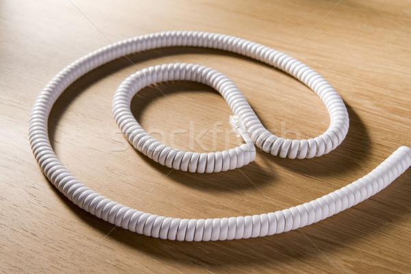 Telefone cordão símbolo negócio escritório Foto stock © monkey_business
