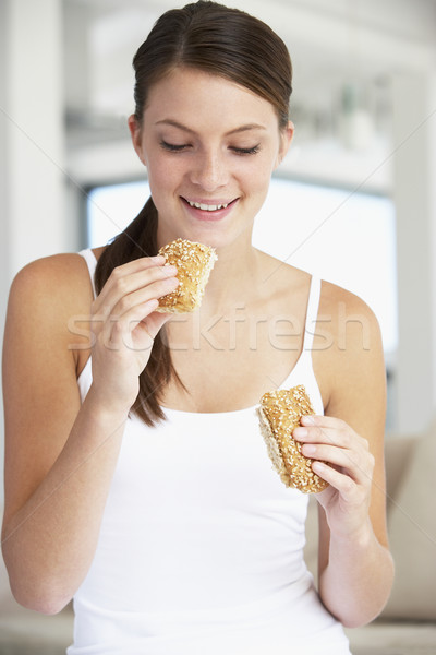 Сток-фото: еды · коричневый · хлеб · катиться · женщину