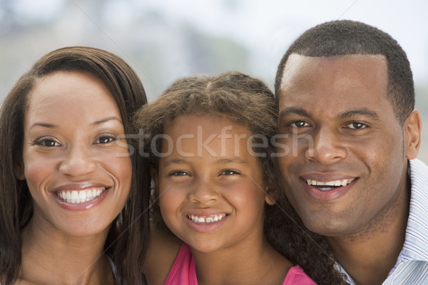 Famille extérieur souriant enfant Homme ensemble Photo stock © monkey_business