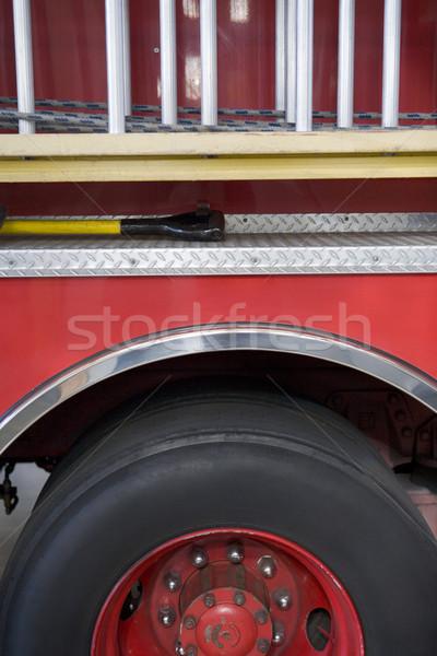 Szczegół pompa strażacka czerwony kolor awaryjne odkryty Zdjęcia stock © monkey_business