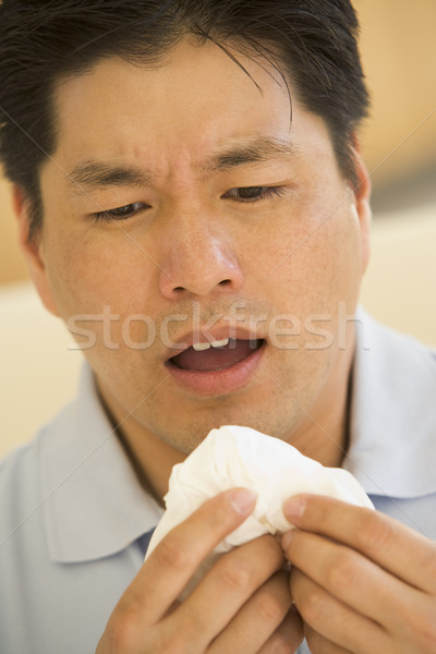 Man Blowing His Nose Stock photo © monkey_business