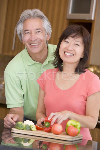 Férj feleség együtt nő pár konyha Stock fotó © monkey_business