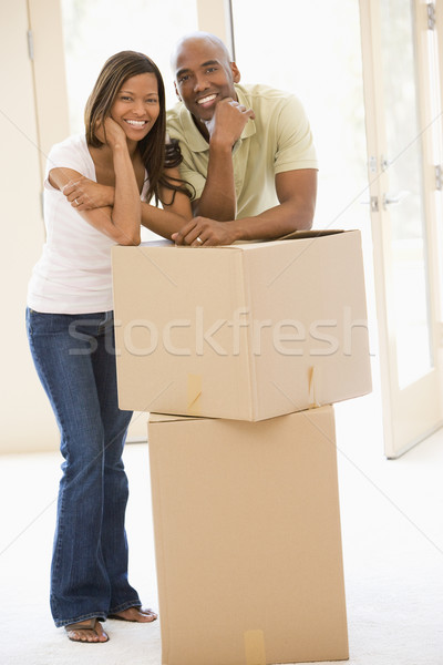 Couple cases nouvelle maison souriant femme maison Photo stock © monkey_business