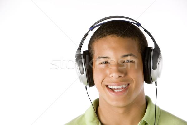 Teenage Boy Listening To Music On Headphones Stock photo © monkey_business