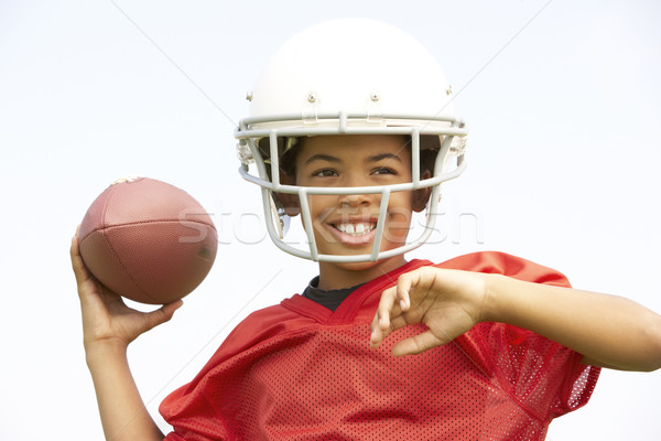 Young Boy Playing American Football Stock photo © monkey_business