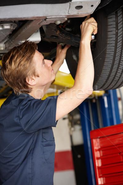 Mechanik pracy pracy koła osoby uśmiechnięty Zdjęcia stock © monkey_business