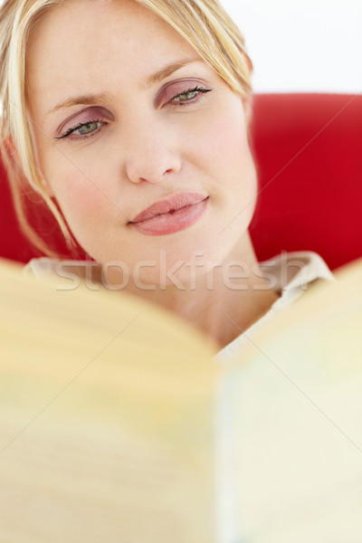 Woman reading book Stock photo © monkey_business
