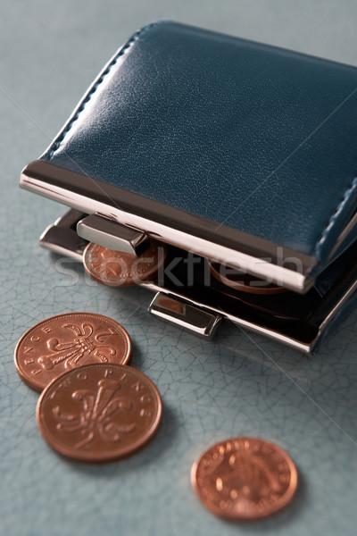 открытых кошелька монетами деньги наличных студию Сток-фото © monkey_business