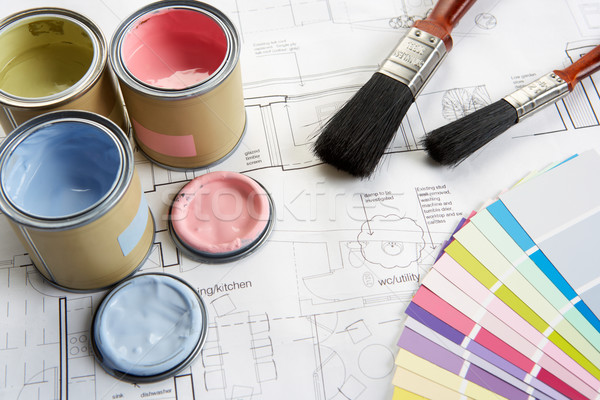 Decorating tools and materials Stock photo © monkey_business